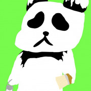 純白パンダのしろくまさん